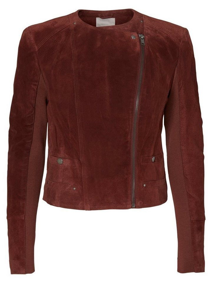 Vero Moda Kurze Wildleder- Jacke in Decadent Chocolate
