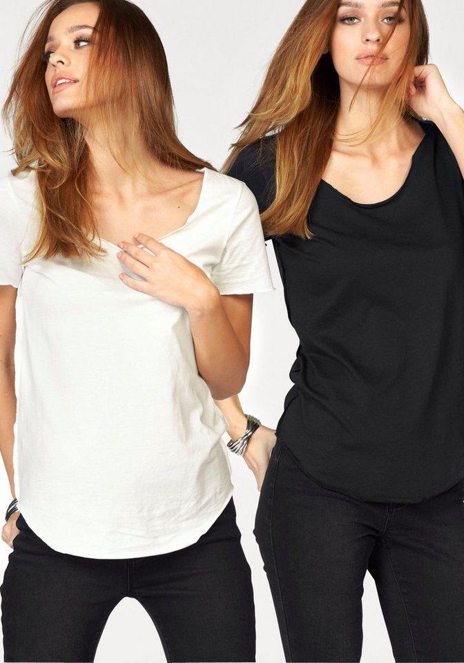 Vero Moda T-Shirt »LUA« (Packung) in schwarz+weiß