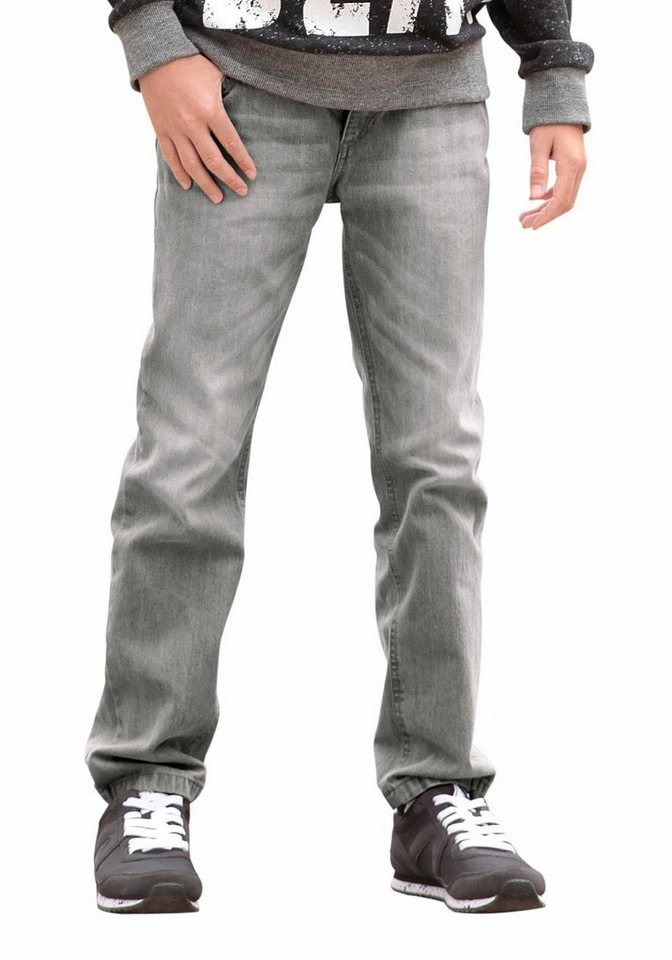 Buffalo Regular-fit-Jeans mit geradem Bein in grey-denim