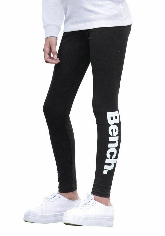 Bench Leggings mit Logodruck in schwarz