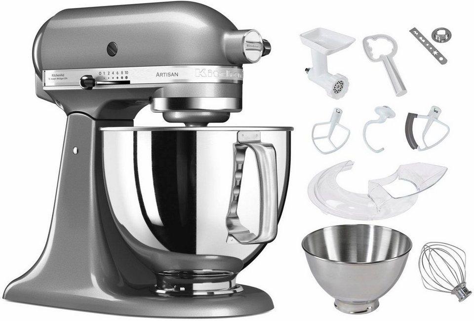 KitchenAid® Küchenmaschine 5KSM125ECU Artisan + Zubehör im Wert von 214,-€ in kontur-silber