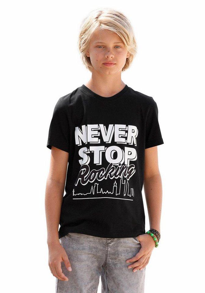 Arizona T-Shirt Mit Druck vorn in schwarz