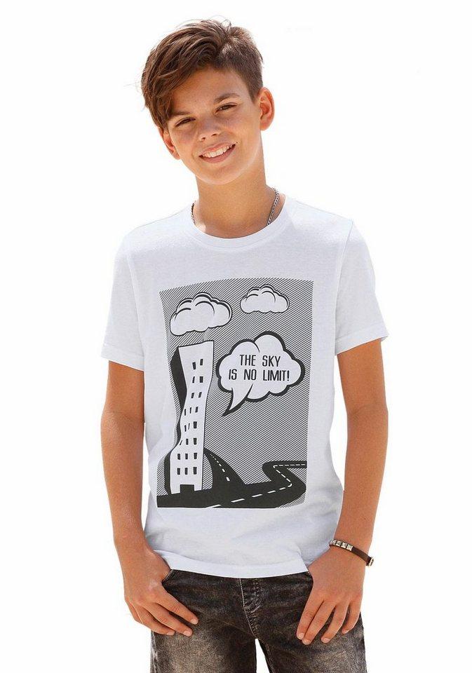 Arizona T-Shirt mit Druck vorn in weiß