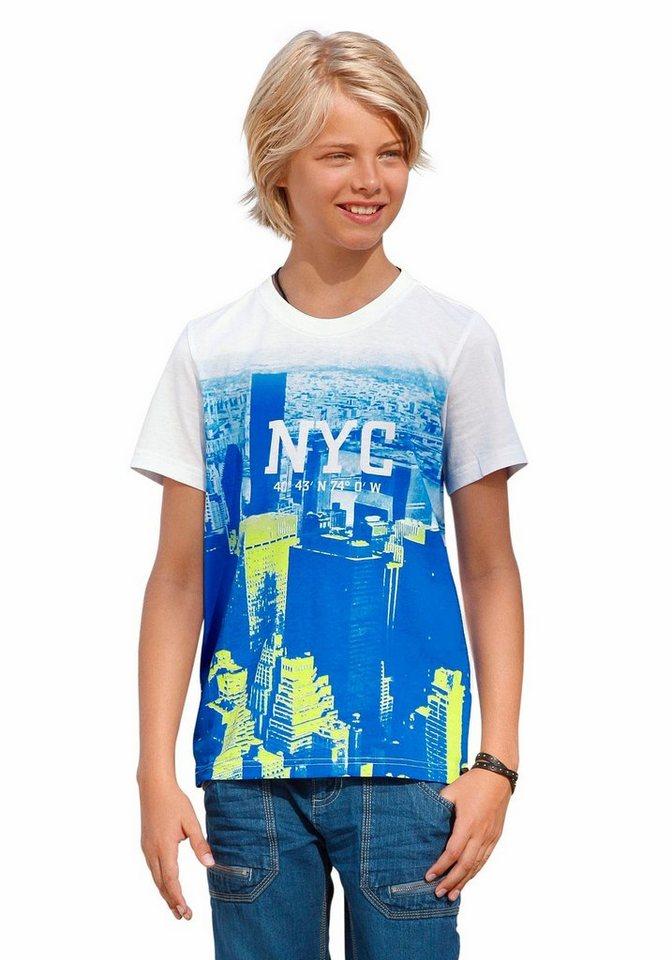 Buffalo T-Shirt mit Fotodruck vorn in weiß