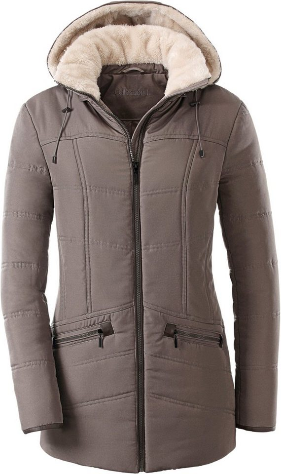 Collection L. Jacke in toller Steppung in taupe