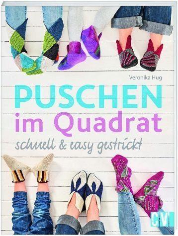 Broschiertes Buch »Puschen im Quadrat, schnell & easy gestrickt«