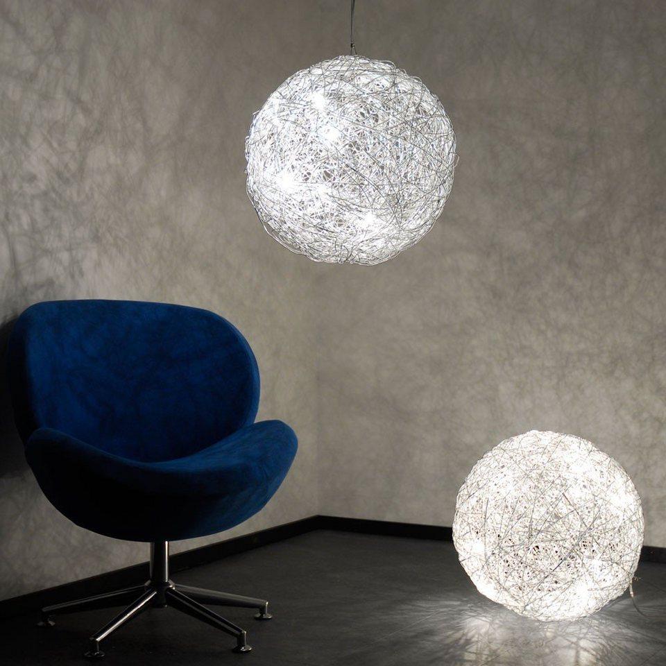 s.LUCE Stehlampe »Mesh LED Drahtkugel Ø 50 cm Silberfarben« in Silber
