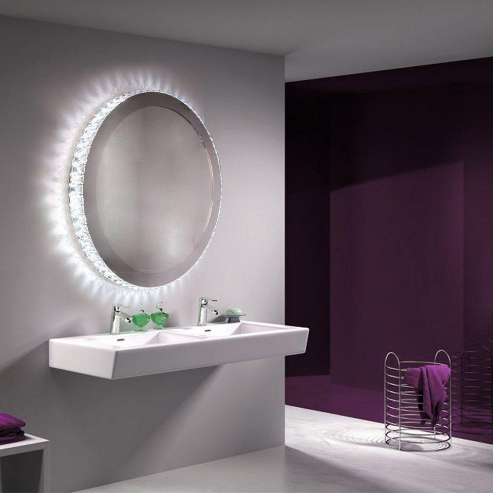 Licht-Trend Wandleuchte »Christallo LED-Spiegel mit geschliffenen« in Silber