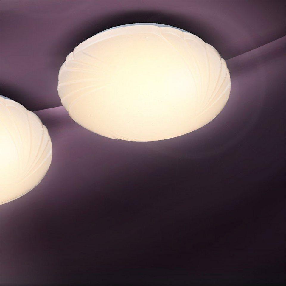 Licht-Trend Deckenleuchte »LED-Deckenleuchte Muschel in Weiss« in Weiß