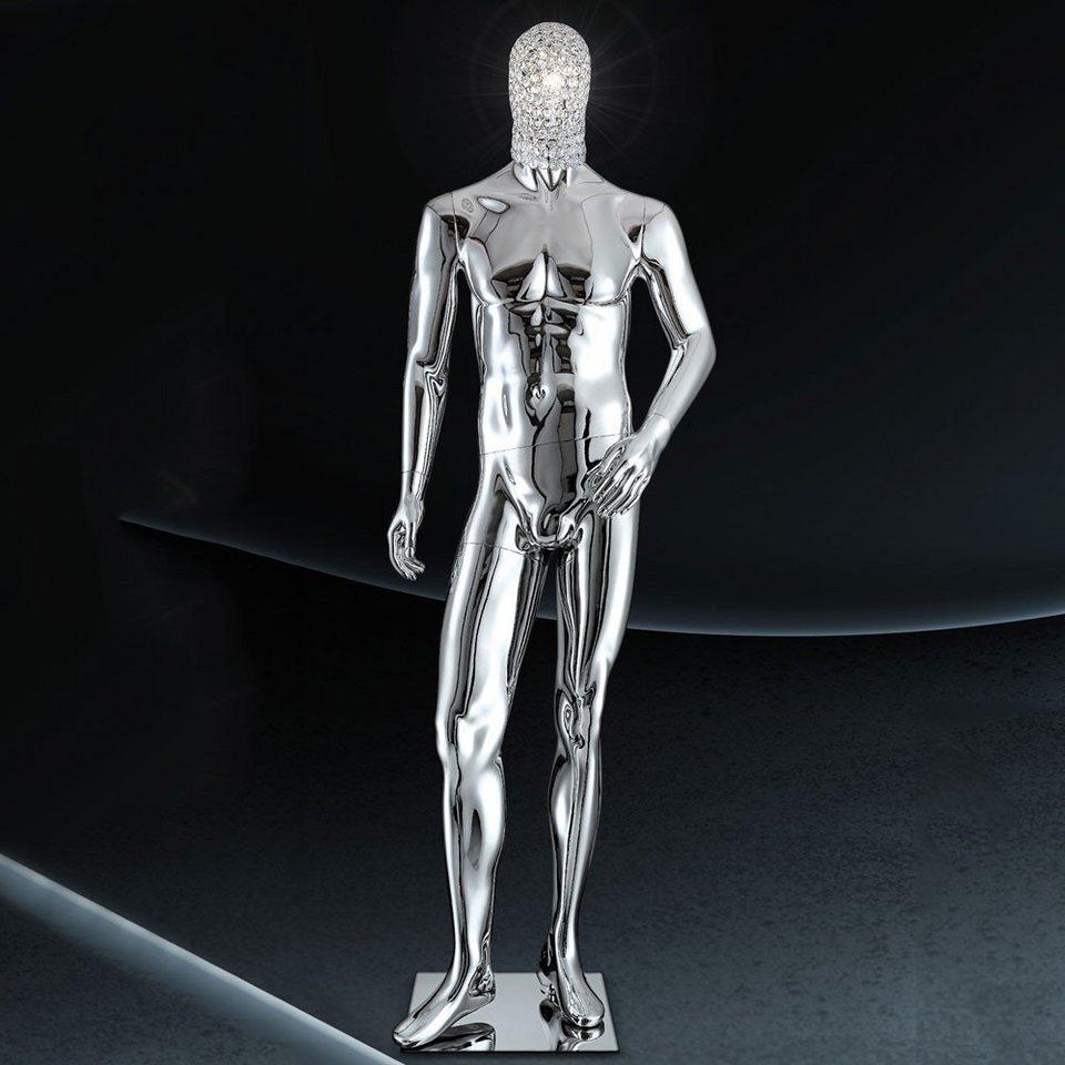 Licht-Trend Stehleuchte »Crystal LED-Schaufensterpuppe mit geschliffenen« in Silber