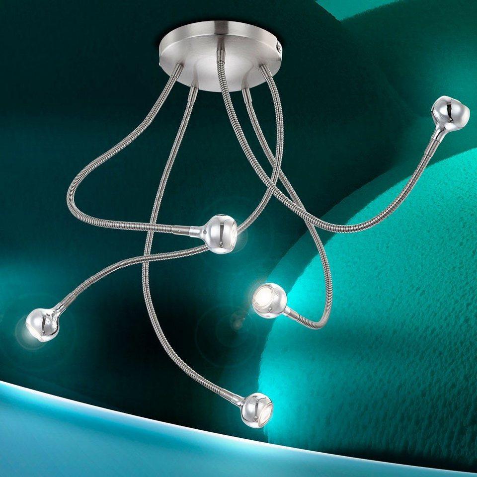 Licht-Trend Deckenleuchte »Hydara LED-Deckenleuchte mit Flex-Armen« in Silber