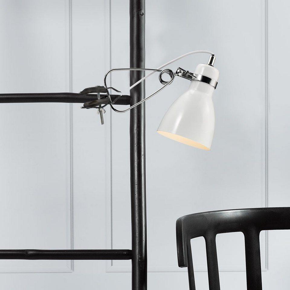 Licht-Trend Tischleuchte »Sera Metall-Klemmleuchte im modernen« in Weiß