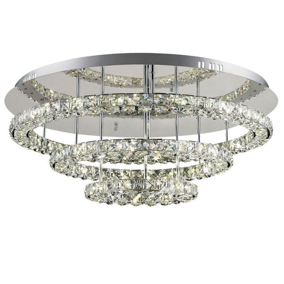 Licht-Trend Deckenleuchte »Sehr grosse LED-Kristall-Deckenleuchte« in Silber