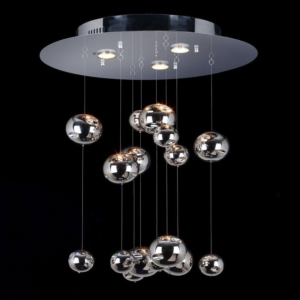 s.LUCE Deckenleuchte »Cosmos Ø 60 cm mit Chromkugeln« in Silber