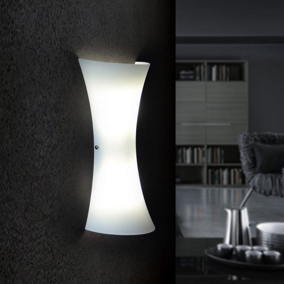 licht trend wandleuchte aira glas in opalweiss otto. Black Bedroom Furniture Sets. Home Design Ideas