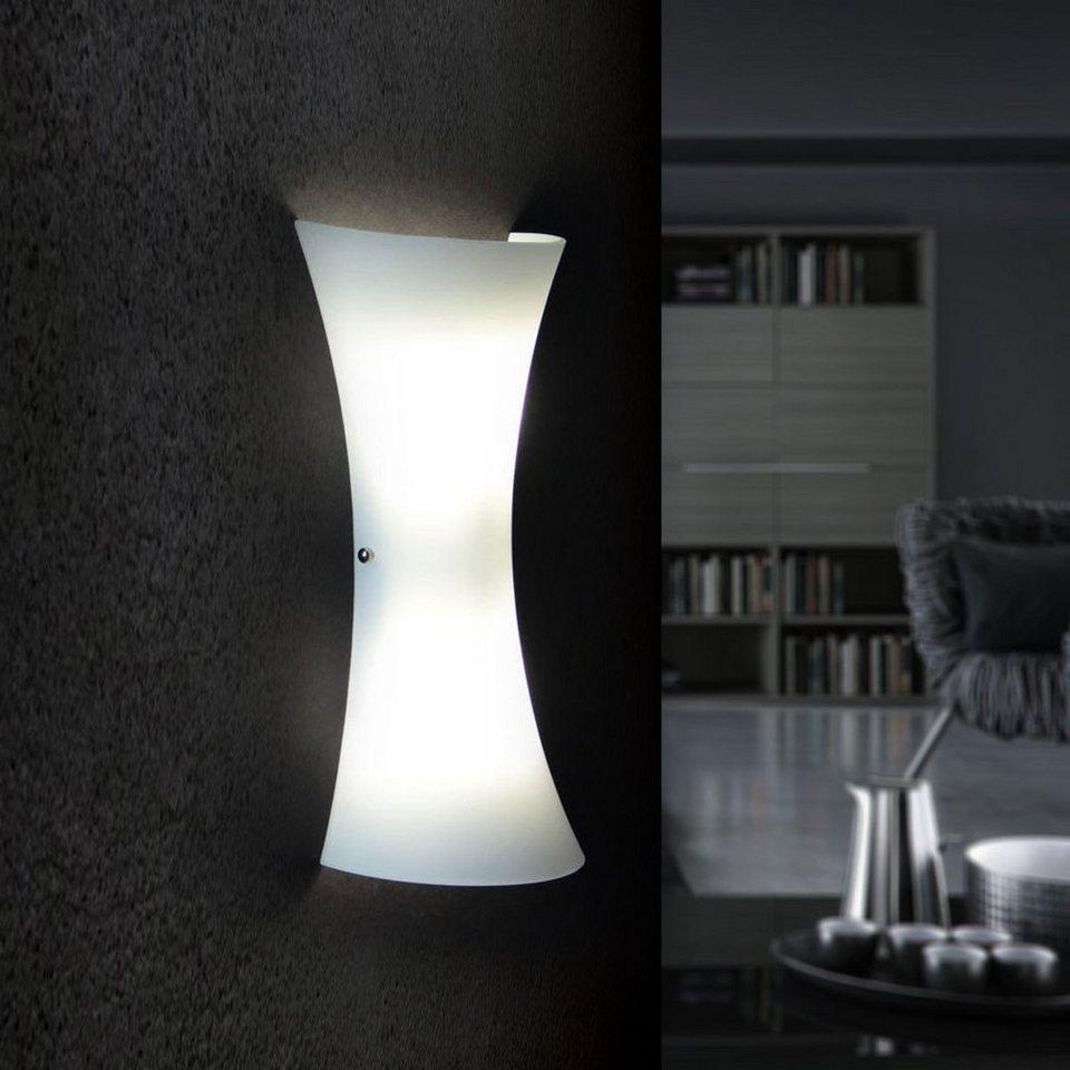 Licht-Trend Wandleuchte »Aira Glas-Wandleuchte in Opalweiss« in Weiß