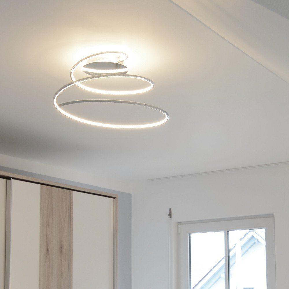 Licht-Trend Deckenleuchte »Spin LED Deckenlampe spiralförmig in Chrom«