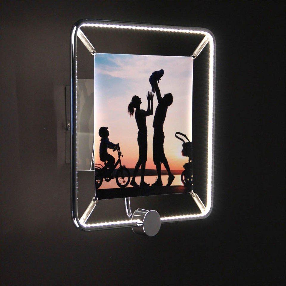 Licht-Trend Wandleuchte »Frame LED-Wandleuchte für Fotos« in Silber