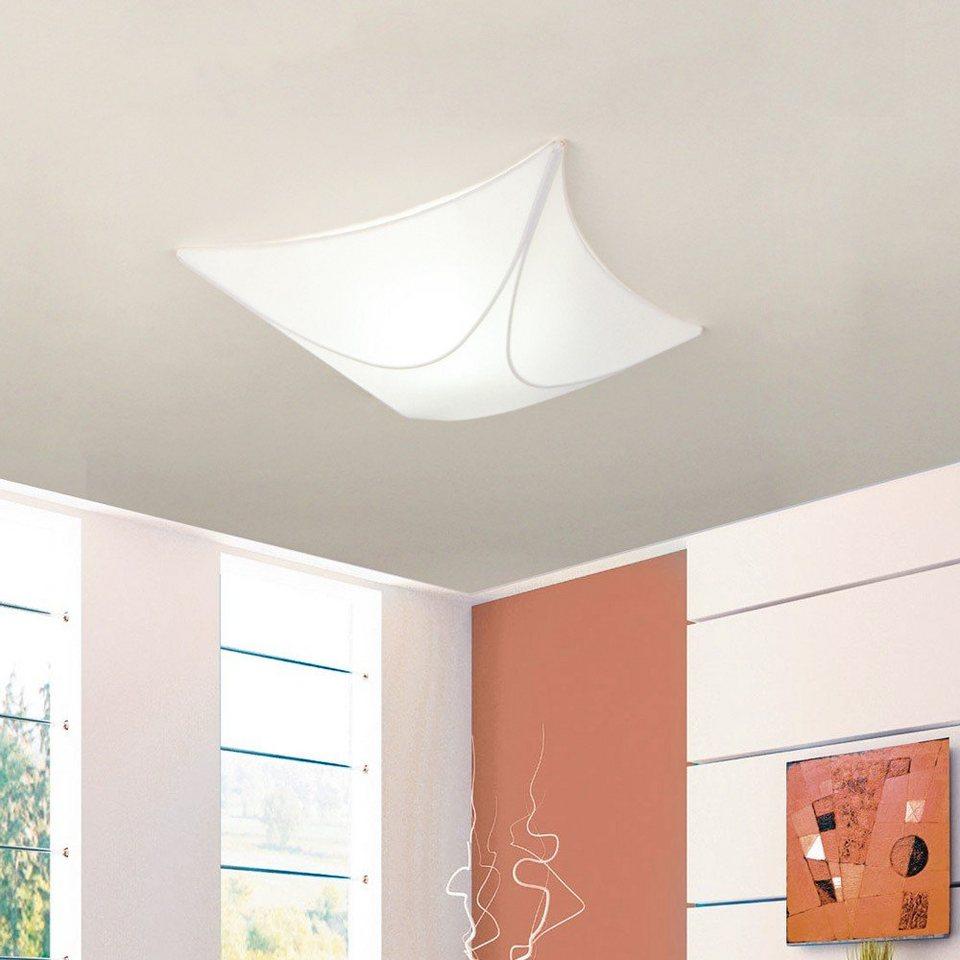 s.LUCE Deckenleuchte »Karo Stoffsegel 40 x 40 cm in Weiss« in Weiß