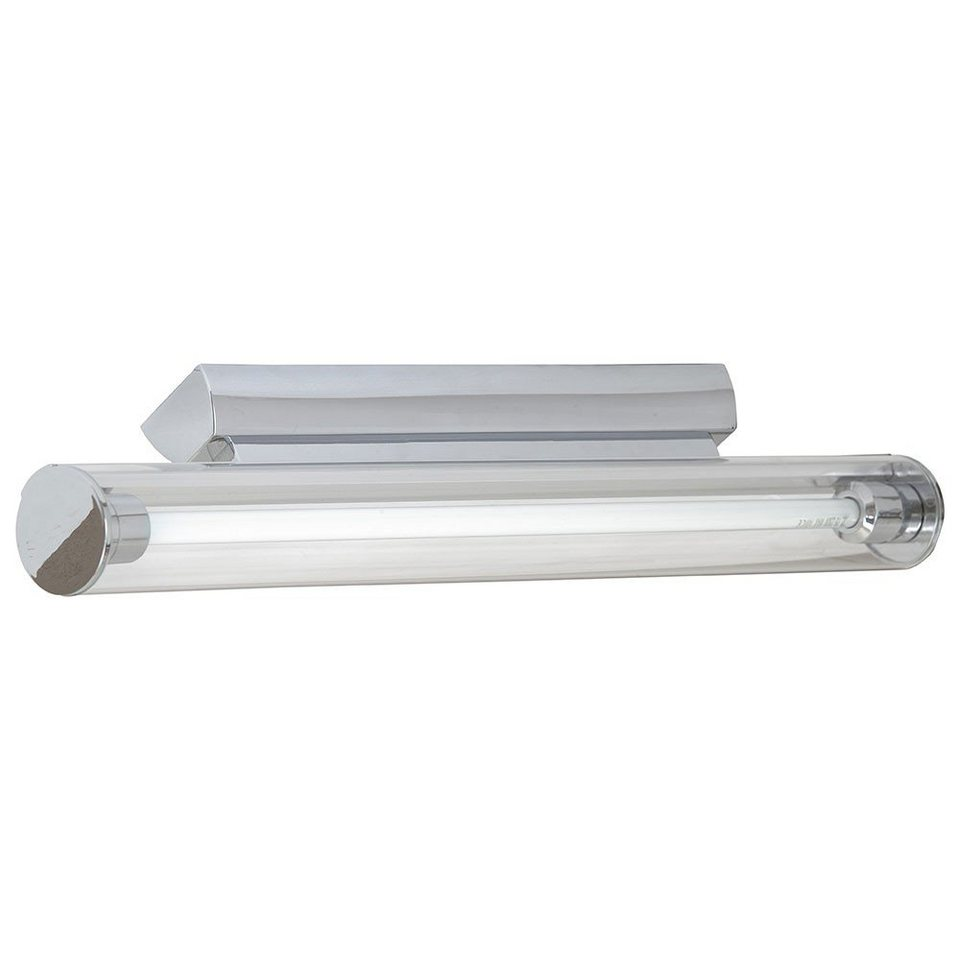 Licht-Trend Wandleuchte »Pipe Spiegel Wandleuchte Acrylrohr 60 cm in Chrom« in Transparent