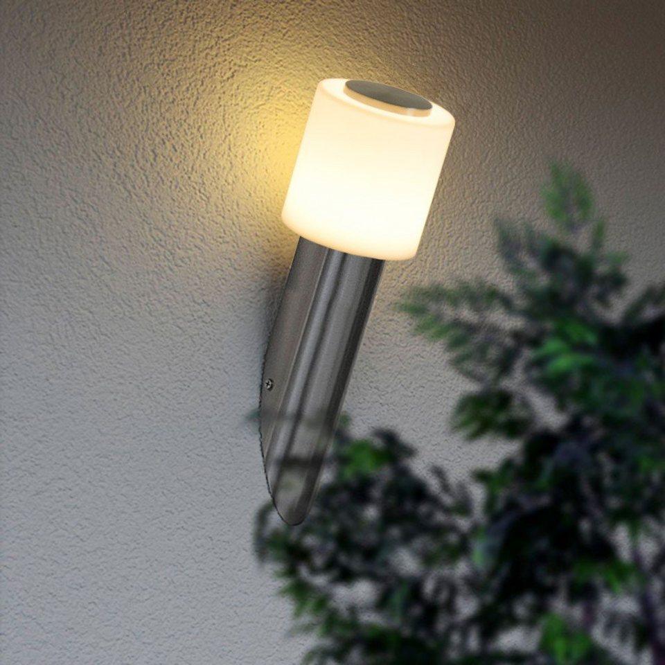 Licht-Trend Wandlampe »Casa Aussen-LED-Wandleuchte« in Silber