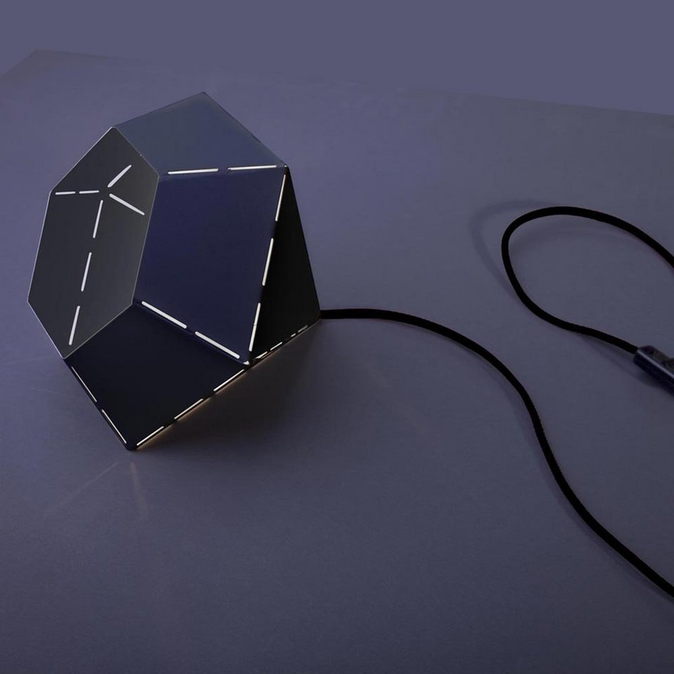 Licht-Trend Tischleuchte »Diamond Design Tischleuchte Ø 25 cm in Schwarz« in Schwarz