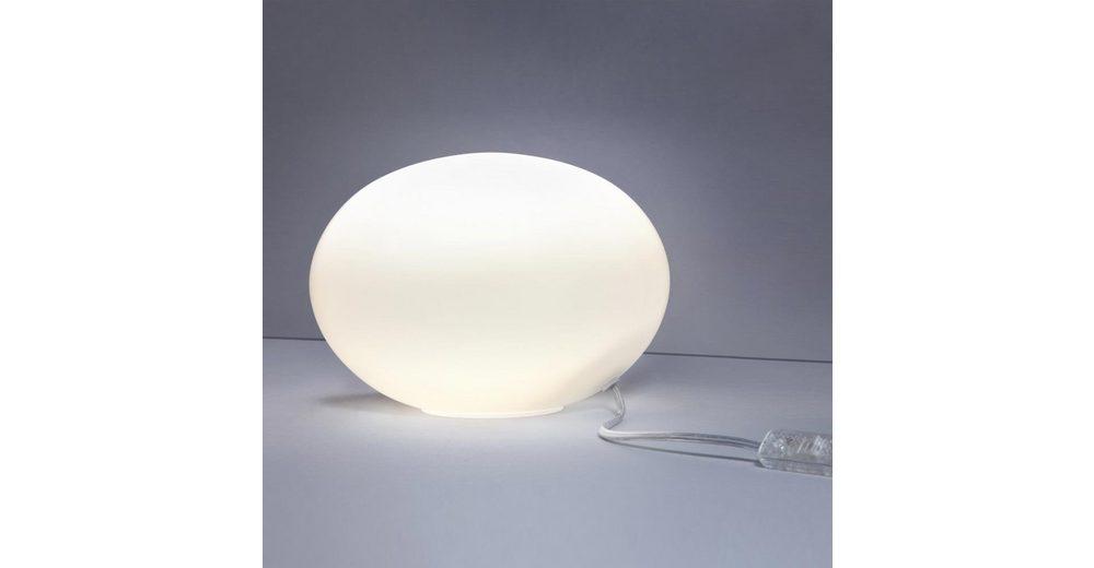 Licht-Trend Tischleuchte »Oval S Glas Tischleuchte Ø 23 cm in Weiss«