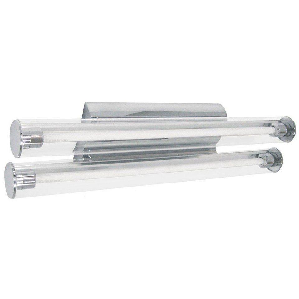 Licht-Trend Wandleuchte »Pipe Spiegel Wandleuchte Doppel-Acrylrohr 60 cm in« in Transparent