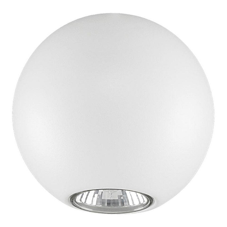 Licht-Trend Deckenleuchte »Bubb Kugel Deckenleuchte Ø 12 cm in Weiss« in Weiß