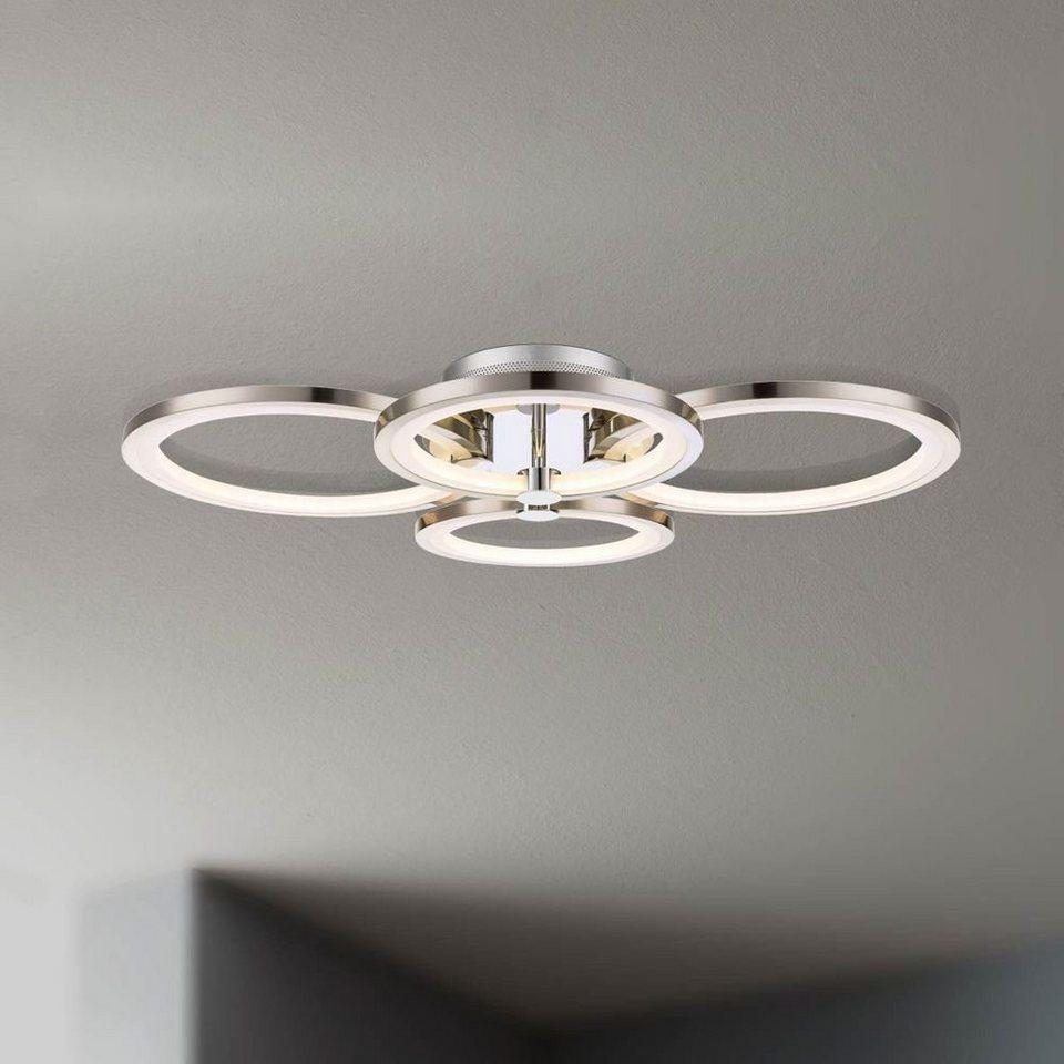Licht-Trend Deckenleuchte »Equal LED Deckenleuchte Nickel matt, Chrom« in Silber