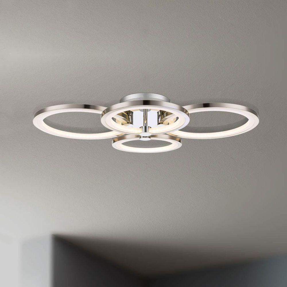 Licht-Trend Deckenleuchte »Equal LED Deckenleuchte Nickel matt, Chrom«