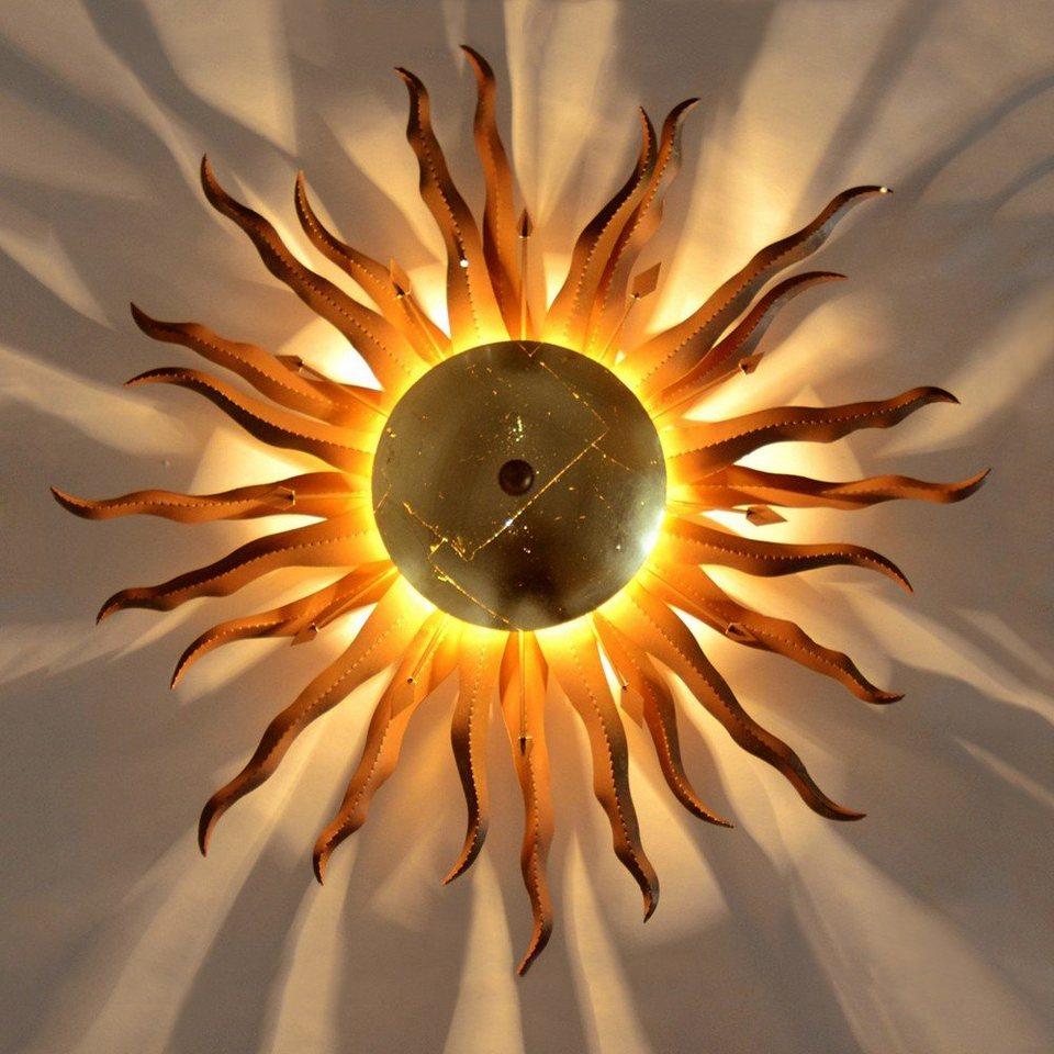 s.LUCE Deckenleuchte »Diator L handgeschmiedete Sonne Ø 50 cm« in Gold