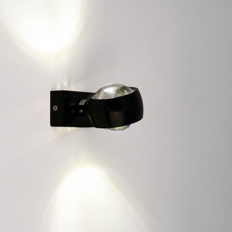 s.LUCE Wandlampe »Beam Up & Down mit Glaslinsen« in Schwarz