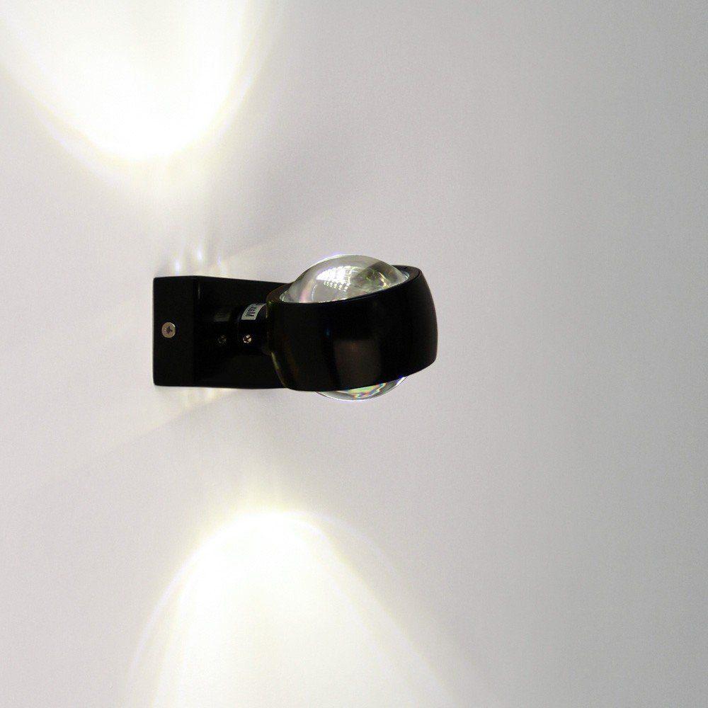 s.LUCE Wandleuchte »Beam Up&Down mit Glaslinsen Schwarz«
