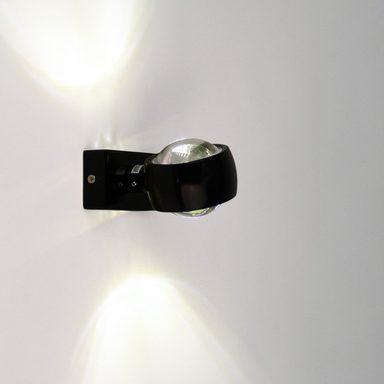 s luce wandleuchte beam up down mit glaslinsen schwarz online kaufen otto. Black Bedroom Furniture Sets. Home Design Ideas