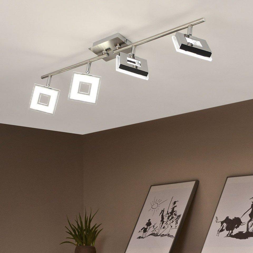 Licht-Trend Deckenleuchte »Sempre Cube LED 4er-Deckenstrahler drehbar / Chrom« in Silber
