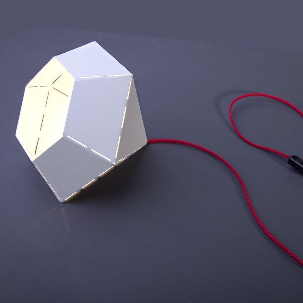 Licht-Trend Tischleuchte »Diamond Design Tischleuchte Ø 25 cm in Weiss mit«