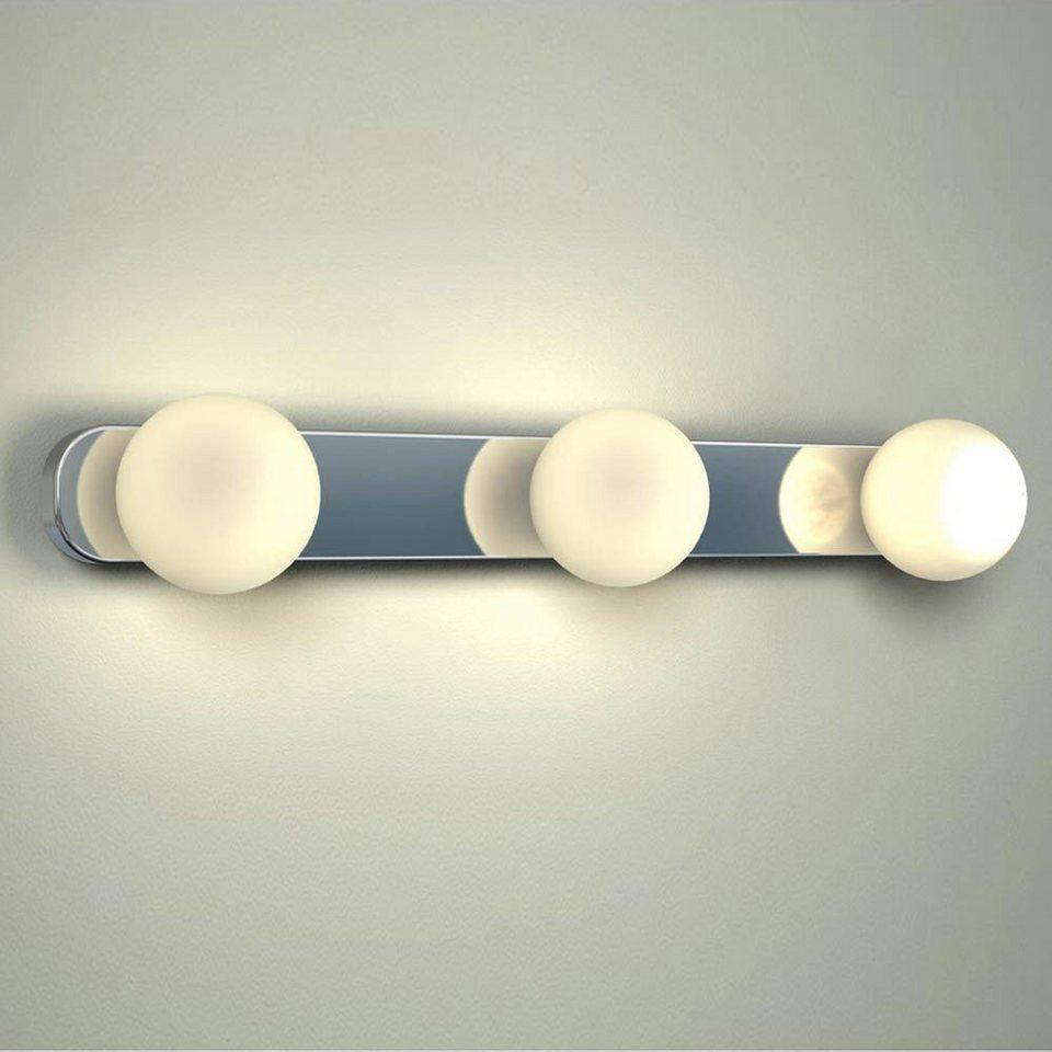 Licht-Trend Wandleuchte »Azos / Spiegel Wandleuchte 44 cm IP44 / Chrom,« in Silber