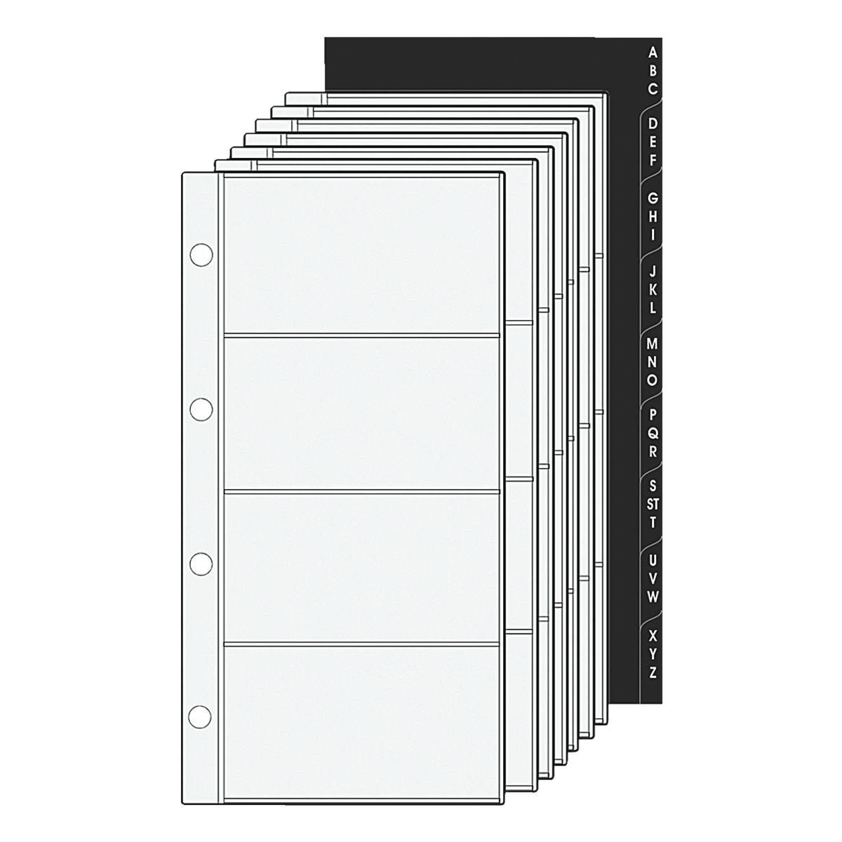 Alassio Ersatzeinlagen für Visitenkartenringbücher