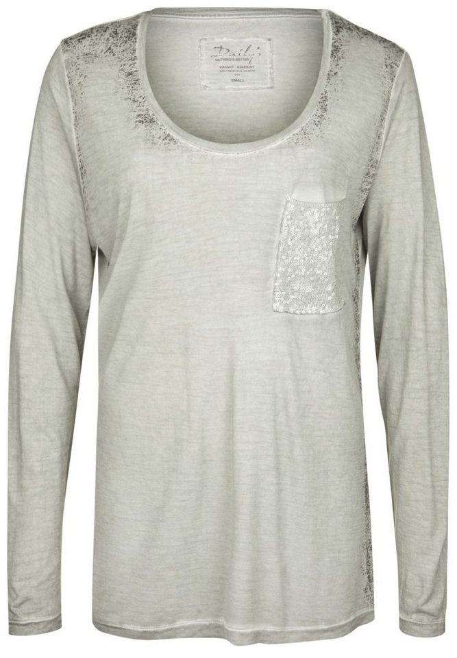 DAILY'S NOTHING'S BETTER Longsleeve »GENEVIEVE« in mild grey