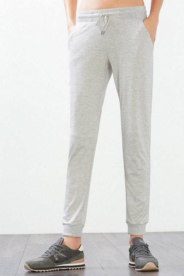 ESPRIT Sport Pants aus fließendem Jersey in LIGHT GREY