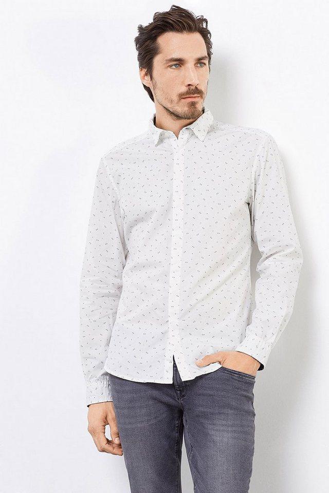 EDC Print Hemd aus 100% Baumwolle in OFF WHITE