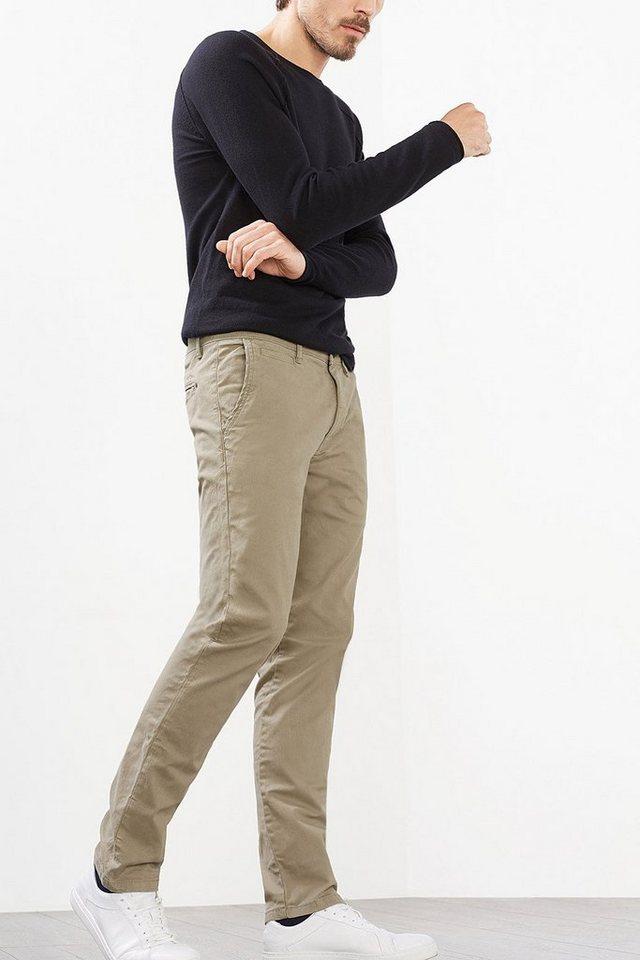 ESPRIT CASUAL Chino aus kräftigem Baumwoll-Stretch in BEIGE
