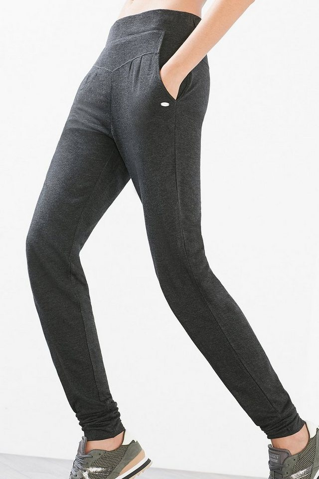 ESPRIT Sport Pants aus weichem Melange Jersey in BLACK