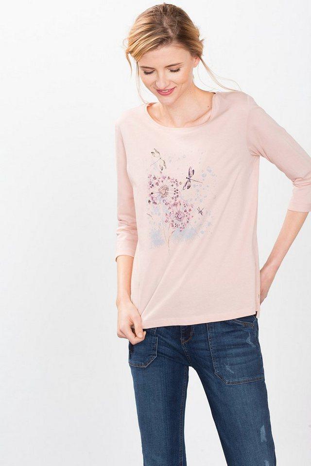 ESPRIT CASUAL Meliertes Print-Shirt aus 100% Baumwolle in NEW NUDE