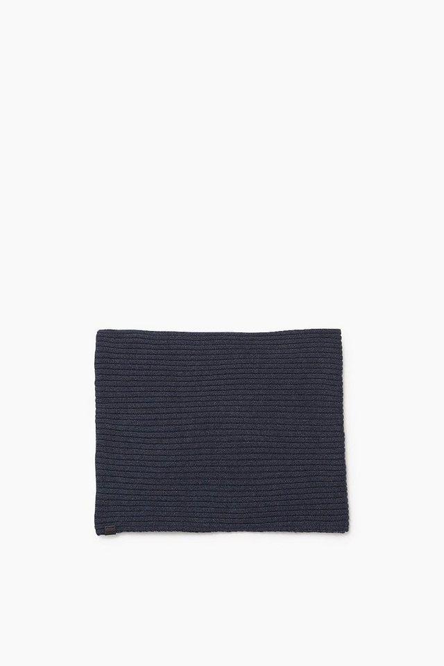 ESPRIT CASUAL Baumwoll/Woll Strick-Loop aus Ripp in GREY BLUE