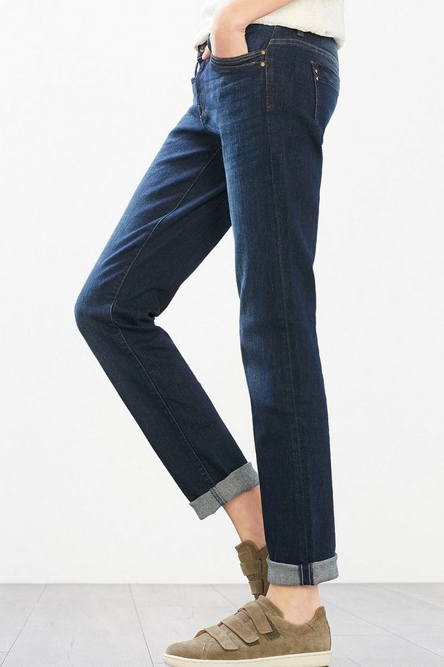 EDC 5-Pocket Stretch-Jeans in BLUE DARK WASHED