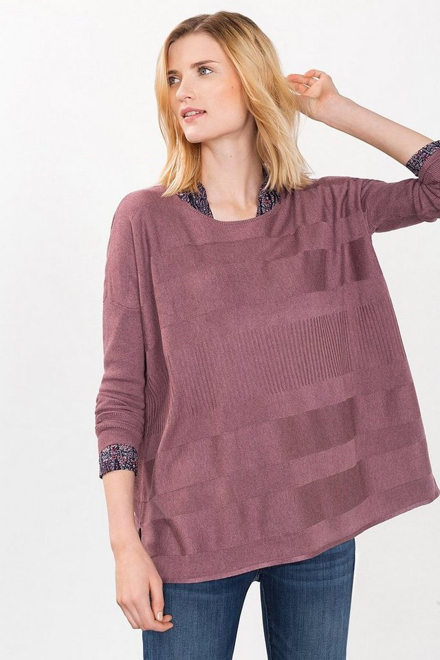 ESPRIT CASUAL Pullover im Poncho-Look in DARK OLD PINK