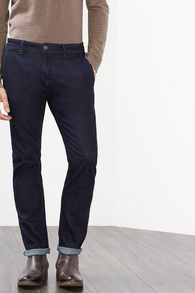 ESPRIT COLLECTION Chino aus dunklem Stretch-Denim in BLUE RINSE