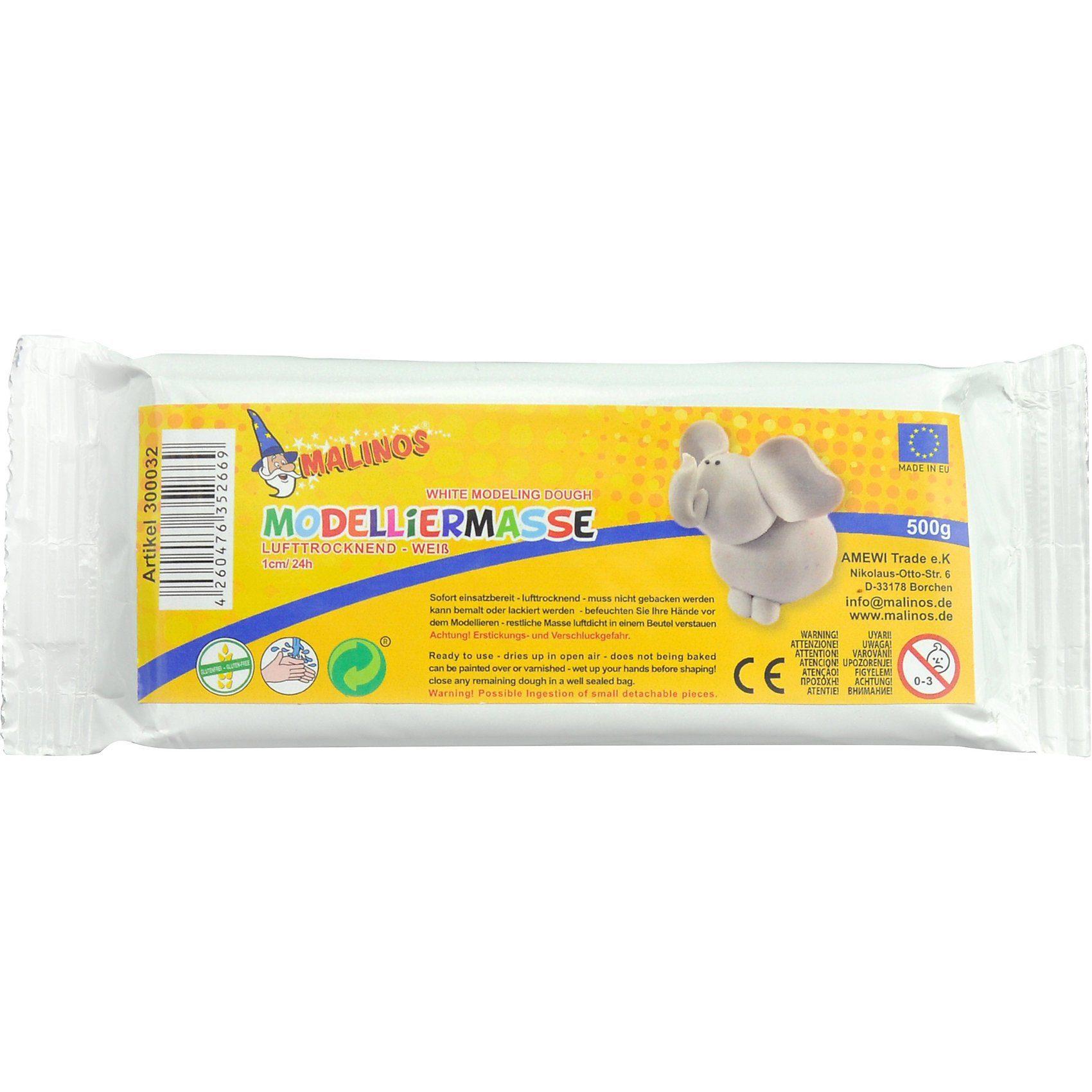Amewi Modelliermasse - lufttrocknend - weiß, 500 g